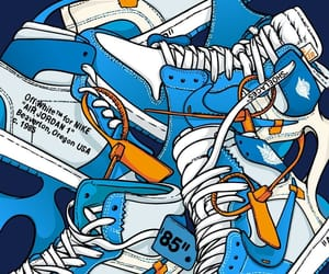 air jordan, art, and blue image