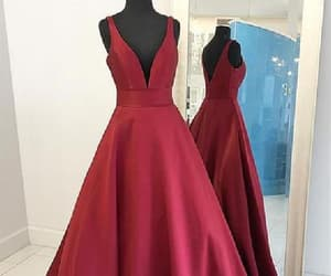 burgundy prom dress, prom dress long, and evening dress red image