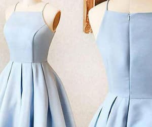 blue homecoming dress, a-line homecoming dress, and simple homecoming dress image