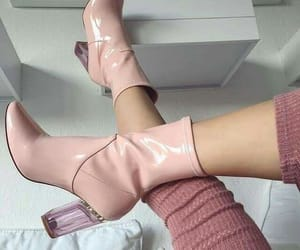 aesthetic, boots, and pink image