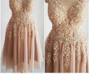 blush prom dress, short homecoming dresses, and a-line prom dress image