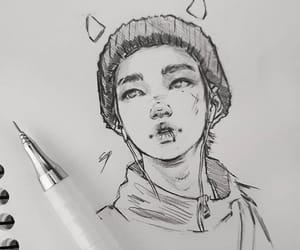 drawing, felix, and jisung image