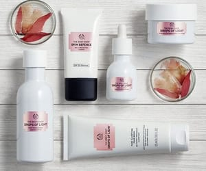 body shop, skincare, and drops of light image