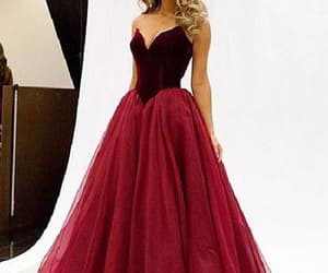 prom dress, pretty prom dress, and evening dresses red image
