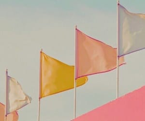 flag, pastel, and pink image