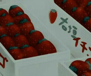 anime, food, and red image