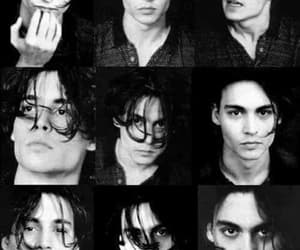 johnny depp, black and white, and sexy image