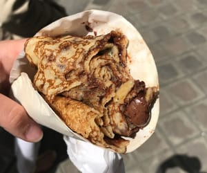 breakfast, crepe, and delicious image