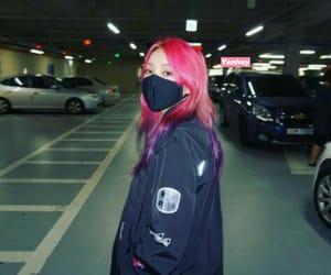 girl, mask, and korean girl image