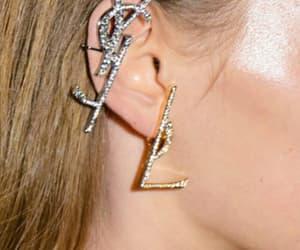 earrings, fashion, and saint image