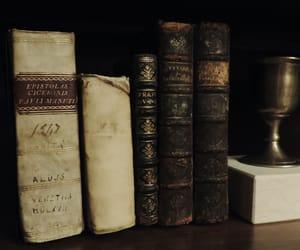 antique, shelf, and books image