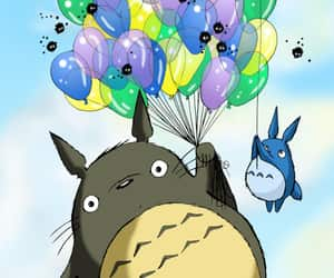 anime, cute, and balloons image
