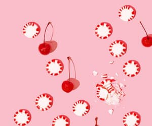 candy, candycane, and cherries image