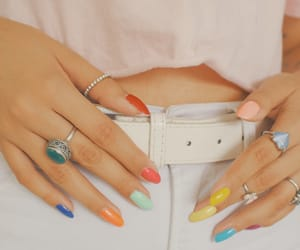 colors, girl, and hands image