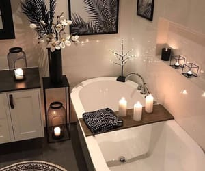 bathroom, home, and candle image