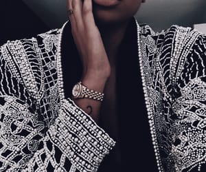 fashion, jacket, and watch image