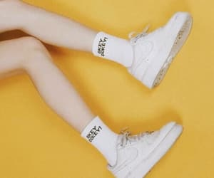 yellow, aesthetic, and shoes image