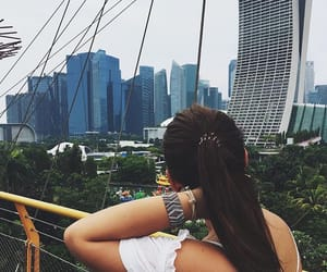 girl, singapore, and travel image