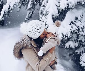 baby, winter, and family image