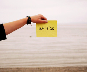 let it be and text image