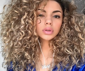 blond hair, chip, and curly hair image