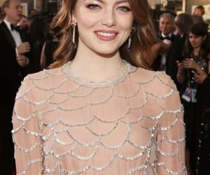 awards, emma stone, and golden globes image