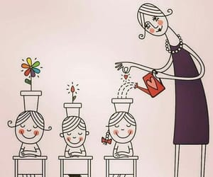 education, flowers, and illustrate image