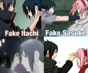 itachi, sakura, and sasuke image