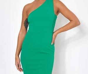 blogger, dress, and green image