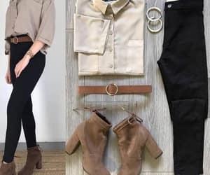 cardigan, scarf, and denim jacket image
