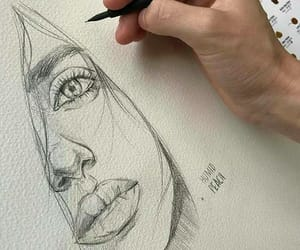 art, beauty, and drawing image