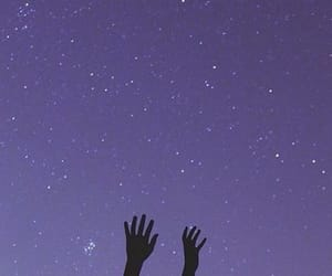 purple, stars, and sky image