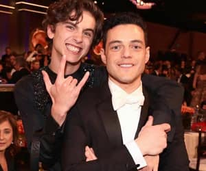 rami malek, timothee chalamet, and golden globes image