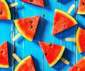 background, watermelon, and summer image