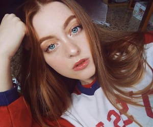 blue eyes, pastel, and redhead image