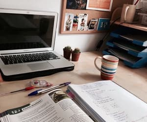 college, school, and desk image