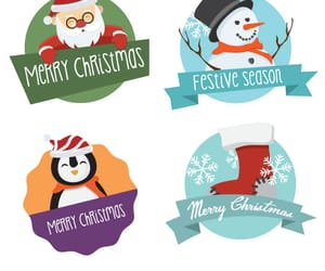 christmas, new year, and vector image