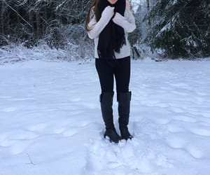 finland, outfit, and snow image