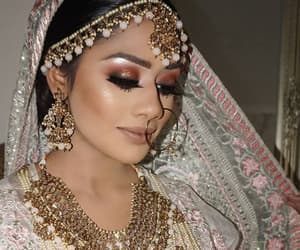arabic, indian, and hair image