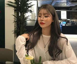 asian and glasses image