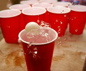 beer pong, party, and photography image