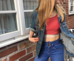 blonde, clothes, and denim image