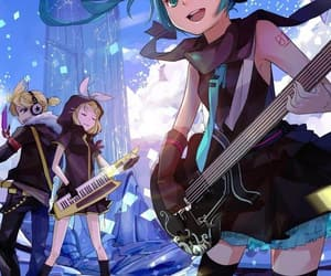 miku, twins, and vocaloid image