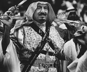 arab, black and white, and king image
