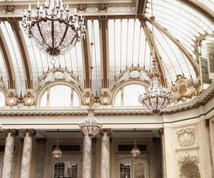 architecture, chandelier, and building image