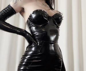 black and latex image
