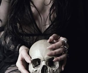 witch, dark, and skull image