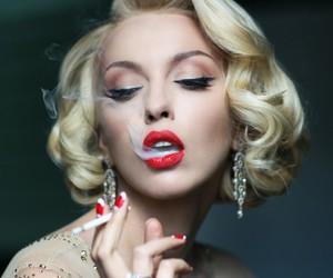 smoke, red, and blonde image