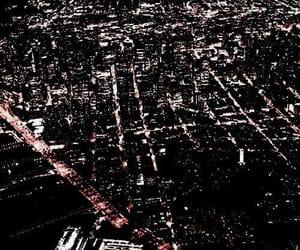 city, black, and light image