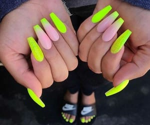 nails, beauty, and neon image